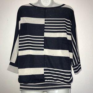 Anthropologie Tops - Anthro Needle & Thread Dolman Stripe Knit Top